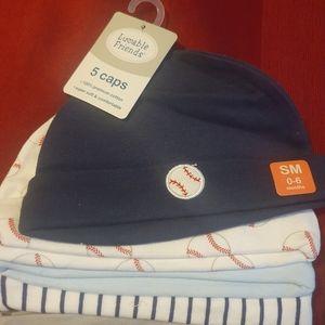 NWT 5 Piece Infant Caps